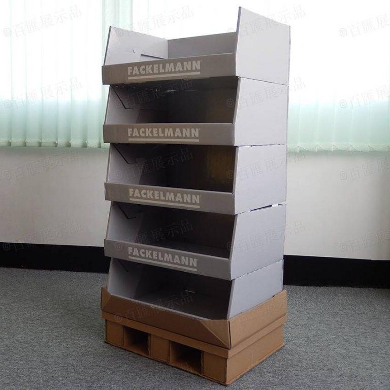 商場直立式卡板多層紙展示櫃