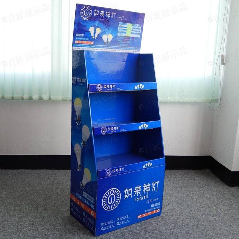 LED燈泡紙品陳列櫃
