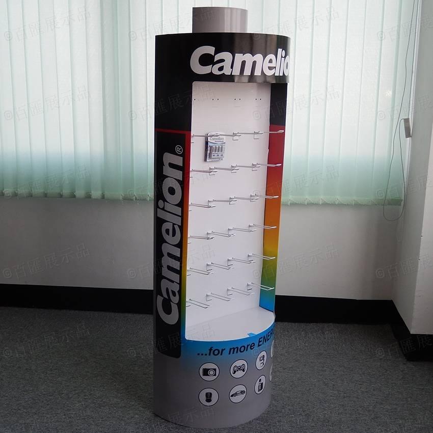 電池形狀掛鉤式紙展示架