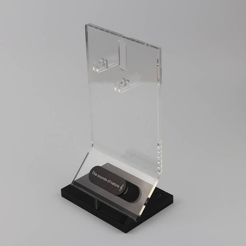 透明亞加力耳機展示架