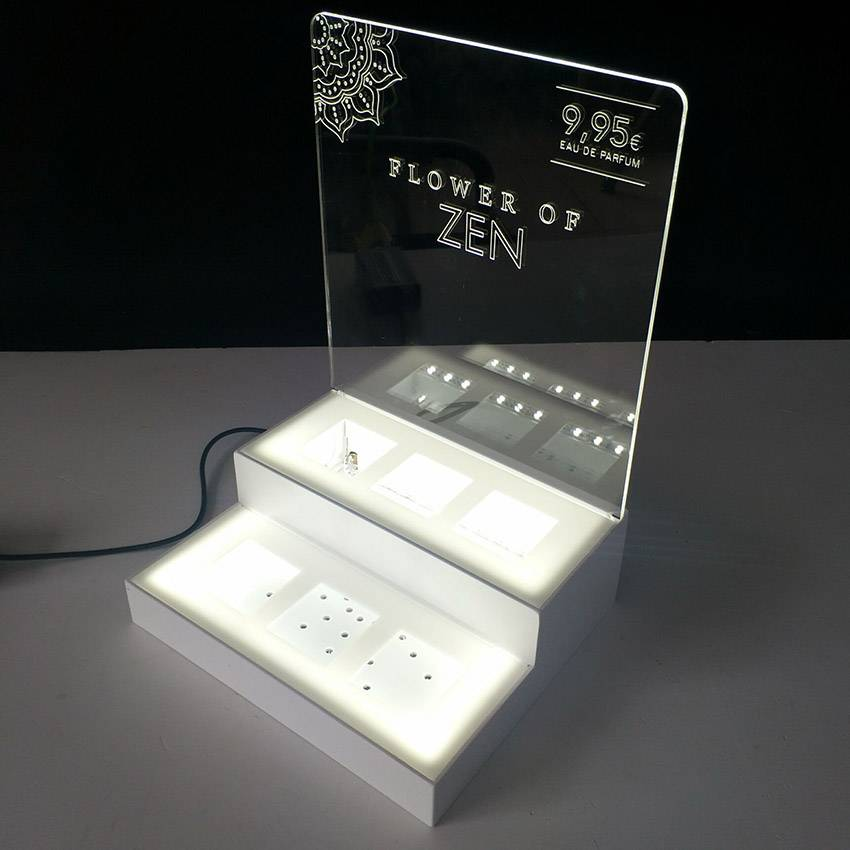 led燈發光亞加力展示架