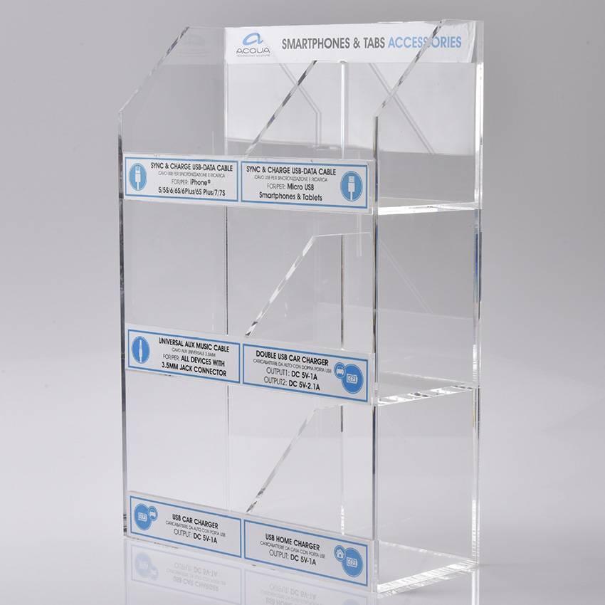 透明亞加力產品展示架